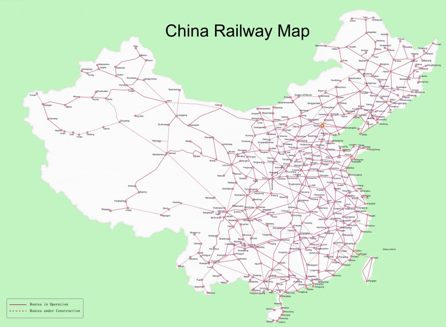 China train map