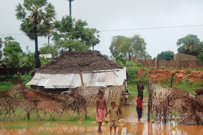 A house in Sri Lanka after rain. Trincomalee.