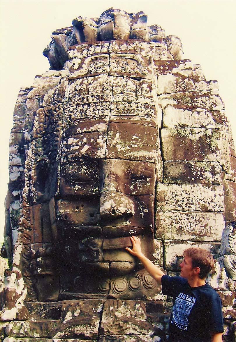 Angkor Wat in Cambodia. Bayon.
