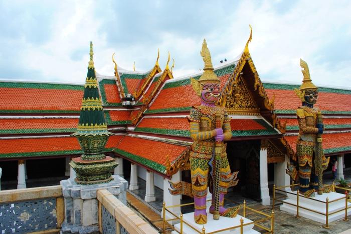 Wat Phra Kaew and the Temple of Emerald Buddha. Bangkok, Thailand.