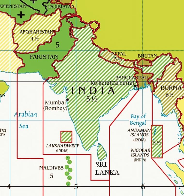 India time zones.