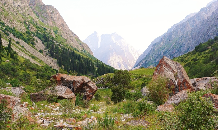 Kyrgyzstan - Ala Archa region near the country's capital Bishkek; very good area for hiking and encouragement to visit Central Asia.