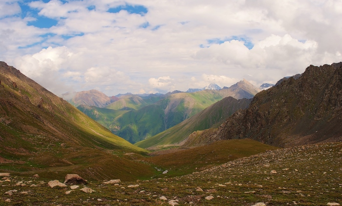 One of the many beautiful valleys of Kyrgyzstan.