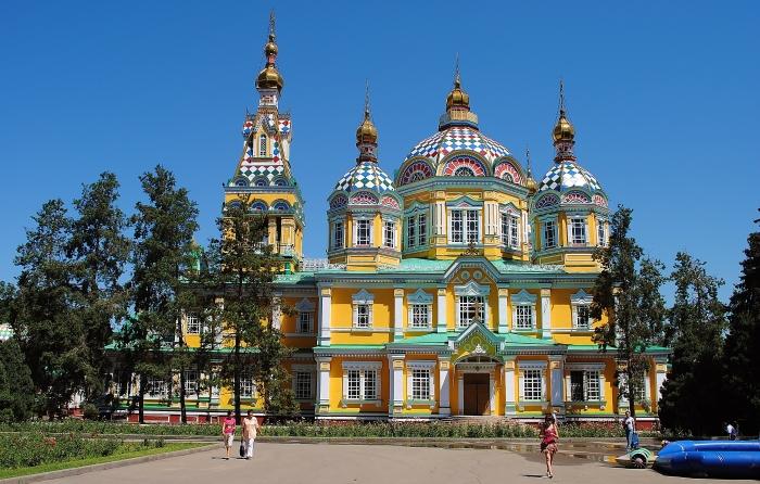Almaty - Zenkov Cathedral in the Panfilov Park.