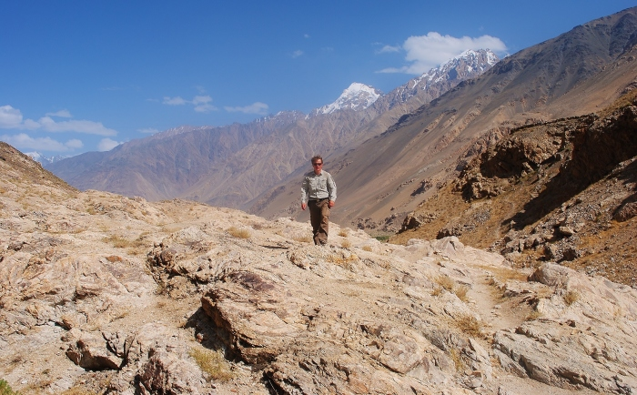 My expedition through the Wakhan Valley. Afghanistan in the background.