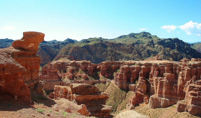 The Charyn canyon. My march through the steppe in dust and strong sun brought me a reward in the form of the beautiful phenomenon of nature.