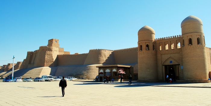 Khiva - the ancient architecture on Kyzyl Kum desert.