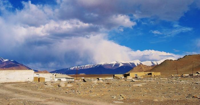 Tajikistan - Karakul village.