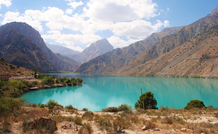 Tajikistan - the pearl of the Fan Mountains; Iskander Kul lake.