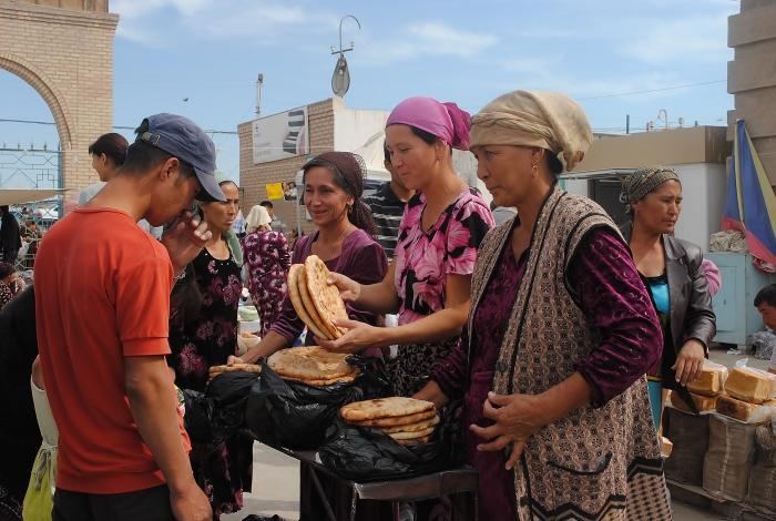 Uzbekistan - in a local market in Nukus; the far away autonomous region of Karakalpastan.