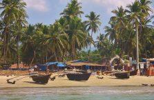 Indie - widok na plażę nad Morzem Arabskim.