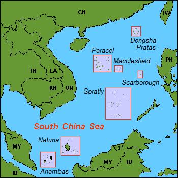 South china sea claim map