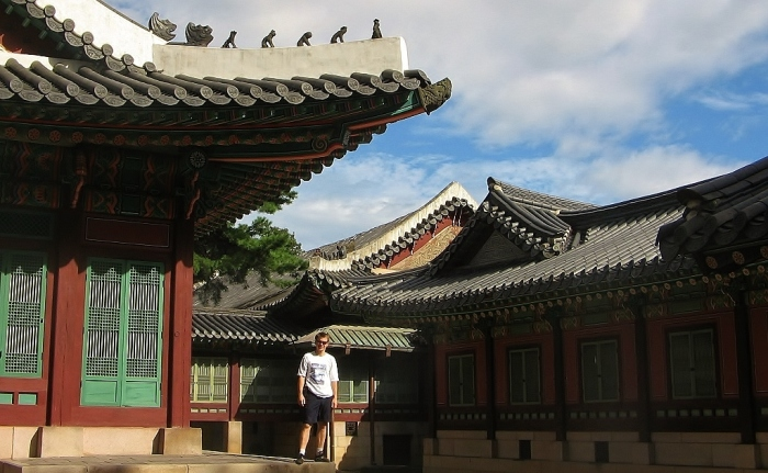 Seoul - at the background of old architecture.