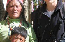 Tybet - z miejscowymi ludźmi.
