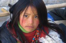 Tybet - dziewczynka.