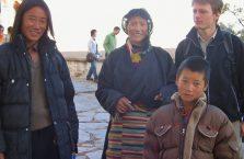 Tybet - z tybetańską rodziną.