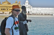 Indie - chudy turban.