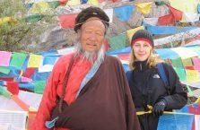 Tybet - z oryginalnym dziadkiem.