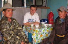Mongolia - w knajpie.