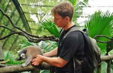 Singapur - z lemurem.