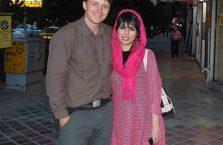 Iran - z młodą kobietą, którą spotkałem na ulicy.