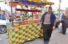 Palestyna -uliczny sprzedawca.