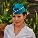 Kazachstan - dziewczyna sprzedająca lody.