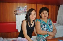 Kazachstan - kobiety, które spotkałem w pociągu.
