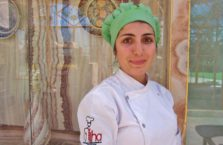 Turkey - young woman working in a kitchen.