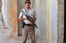 Turkey - soldier in Topkapi palalce.
