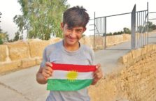 Iraqi Kurdistan - young Kurdish patriot.