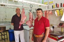 Iraqi Kurdistan - in a meat shop.