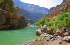 Iraqi Kurdistan -my wild beach in a canyon next to the Gali Ali Berg waterfall.