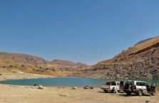 Iraqi Kurdistan - beach by Dukan lake.