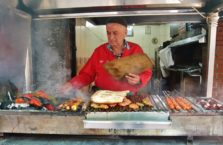 Turkey - kebab seller.