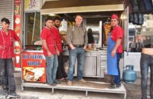 Turkey - with the kebab staff.